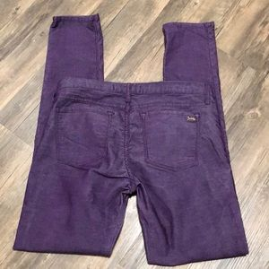 Juicy Couture Jean Skinny Purple Corduroy SZ 30